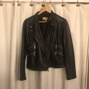 Michael Kors leather biker jacket